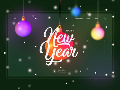 Happy New Year! ae web new year christmas 3d blender illustration design ui
