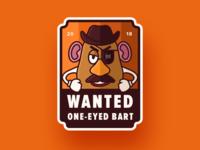One Eyed Bart Badge