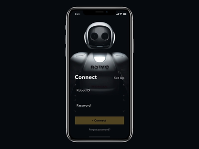 Robot Control Concept ux ui ae animation mobileapp iosapp ios mobile gif iphone app