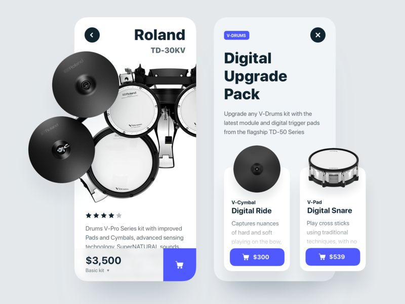 Digital Drums price ios ecommence cart buy kit drums app mobile