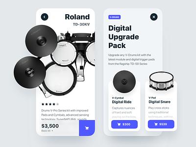 Digital Drums price ios ecommence cart buy kit drums app mobile