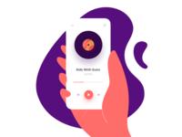 Vinyl Player Illustration