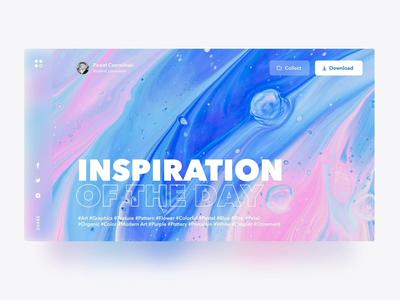 Inspiration Of The Day illustration ae animation liquid animation bucket collection inspiration liquid photo landing web