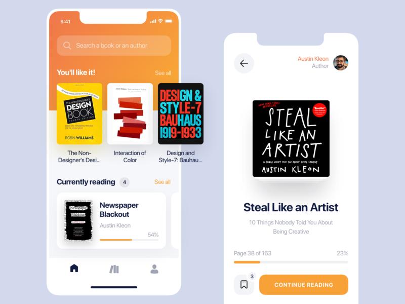 Books — Mobile App Concept dashboard library reading app store books design ux ui sketch mobileapp iosapp ios mobile iphone app