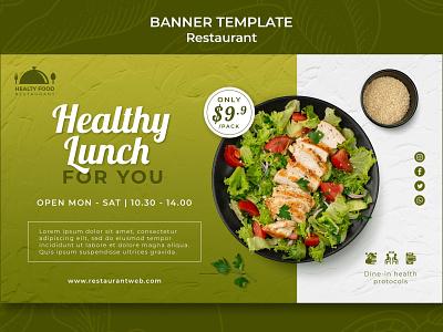 Concept Banner for Restaurant graphic design banner