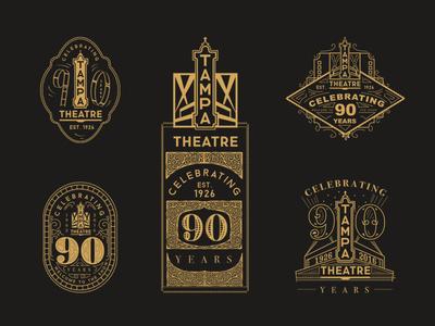 90th Anniversary Logo film logo anniversary 90th theatre tampa