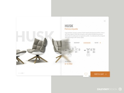 Online store designer's furniture web ux ui furniture design