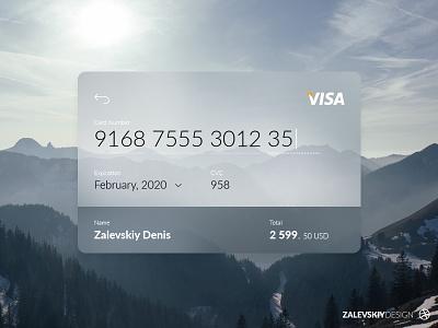Credit Card Checkout visa web design ux ui design credit card