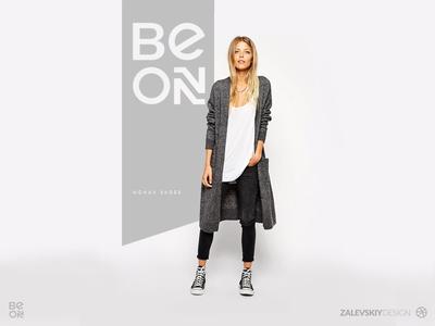 Logotype design | BE ON - Woman shoes zalevskiy design woman shoes design logo