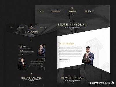 Web site   Peter Briskin - Lawyer of New York 🇺🇸 designer zalevskiydesign webdesign lawyers