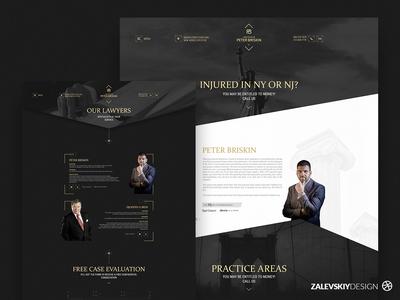 Web site | Peter Briskin - Lawyer of New York 🇺🇸 designer zalevskiydesign webdesign lawyers