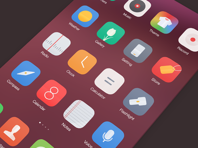 Flippi Android Icons theme miui icons sms camera sanityd china