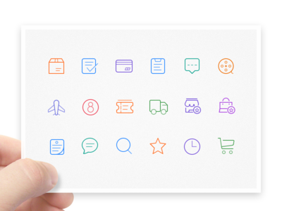 Line Icons line icons message clock express store cart favorite movie
