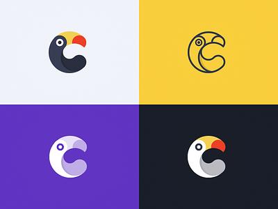 Toucan Logo simplify extend china sanityd logo toucan