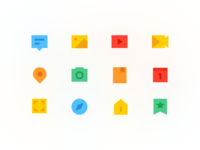 Light Colored Icons