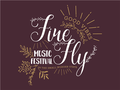 Firefly Women's Tank Top leaves nature music festival apparel firefly typography script design gold