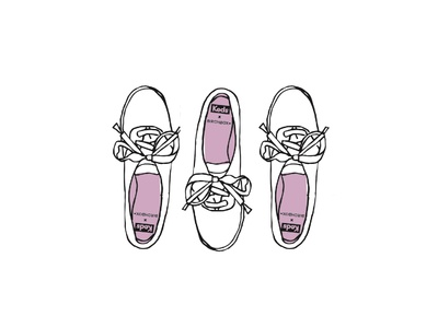 Keds + Birchbox in progress sketch