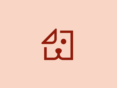 Dogeared Logo dogeared ear book blog icon dog design vector illustration logo branding