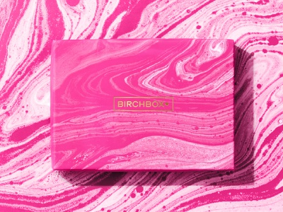 Marble Box pink gold marble birchbox packaging pattern design branding