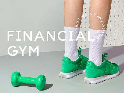 Financial Gym lettering typography logo design illustration branding