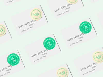 Financial Gym Stickers icon vector pattern typography logo design illustration branding