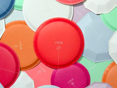 Coterie Plate Backs pattern vector icon packaging lettering typography logo illustration design branding