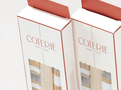 Coterie Packaging Detail decorations party packaging lettering typography logo design branding