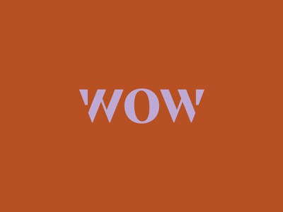WOW lettering pattern typography logo illustration design branding