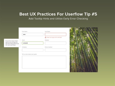 Form Best Practices interface ambient background page engage form ux