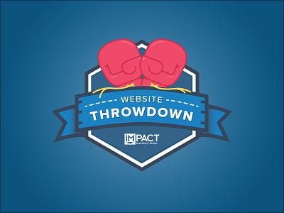 Website Throwdown Logo typography branding identity website design logo