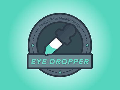 Merit Badge for Eye Dropper Masters merit icon design badge prompt002
