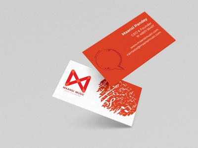 Business Card- Maansi Music illustration typography branding vector design