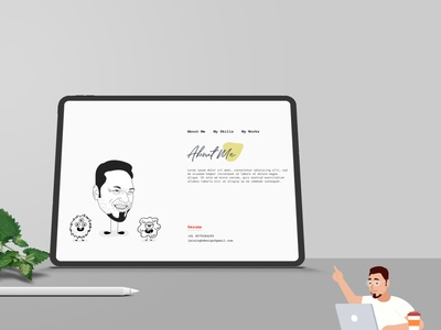My Portfolio Page illustration web typography ui logo ux branding design