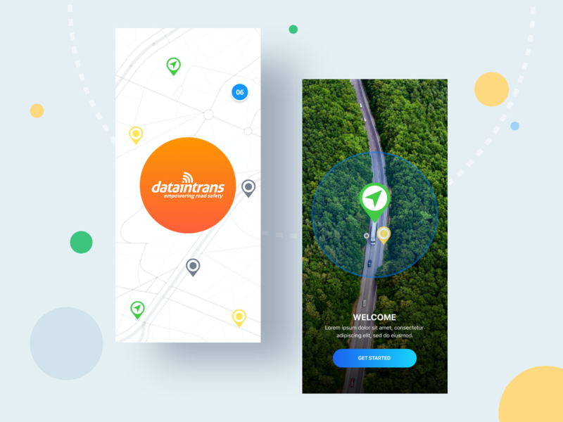 DiT- IOS App illustration minimal maps animation design ui app icon logo ux