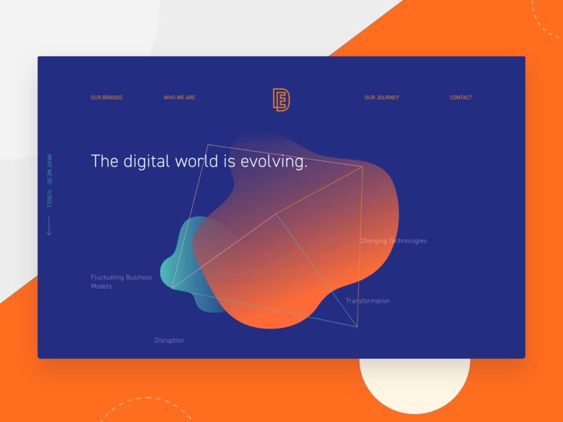 Effective Digital Website illustration photoshop branding typography design web app intranet website ux ui