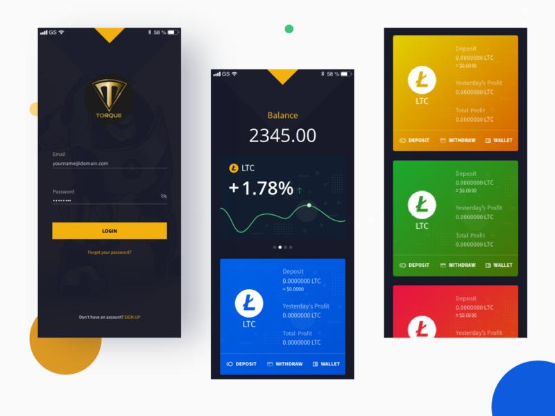 Torque - App Design web icon logo design branding ux ui app