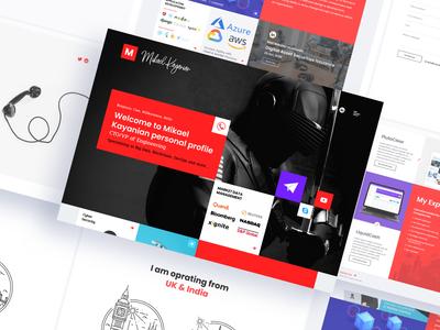Personal Blog Design vector brand blog website branding minimal icon web ux ui design