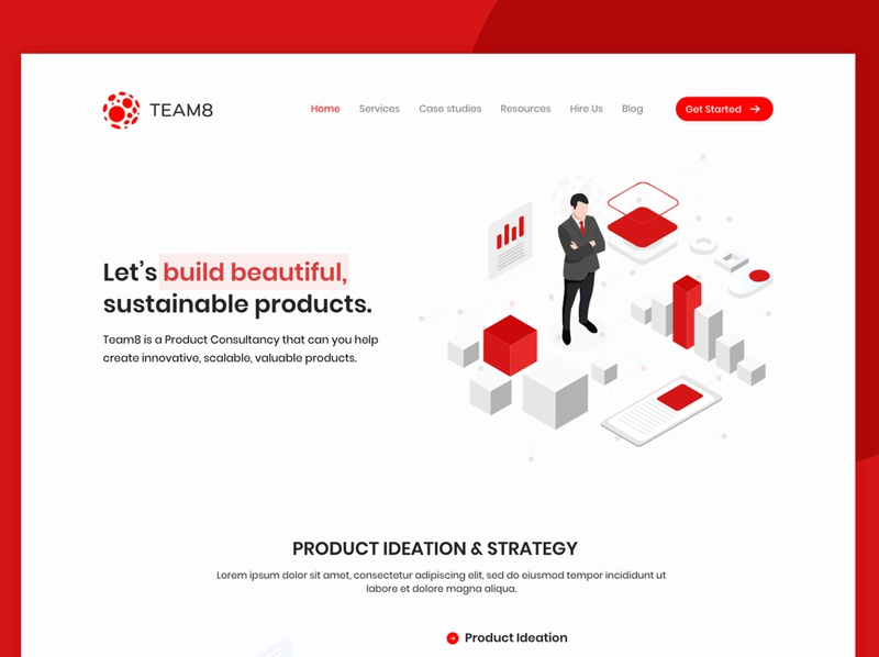 Team 8 Design photoshop website animation app typography ui ux web branding design