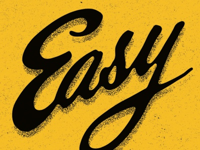 Easy yellow black greetings texture type