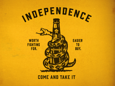 Texas Independence Day snake come and take it bottle independence craft beer texas