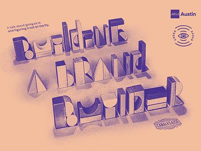 Under the Radar print poster under the radar texture noir typography aiga austin