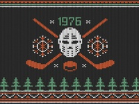 Knitted Hockey Logo