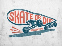 Skateboard vintage print