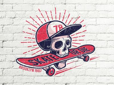 Skull Skateboard