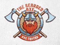 Bearded Axe Viking Logo