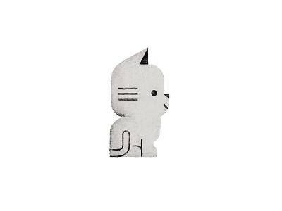 Little Grey kitten cat texture illustrator animal illustration