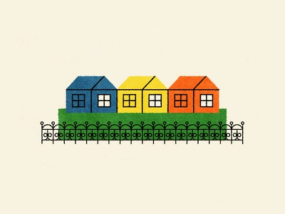 Small Houses color house texture illustration