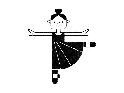 Ballerina character ballerina ballet texture illustrator illustration