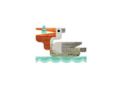 Pelican adobe texture fish sea bird pelican illustrator illustration