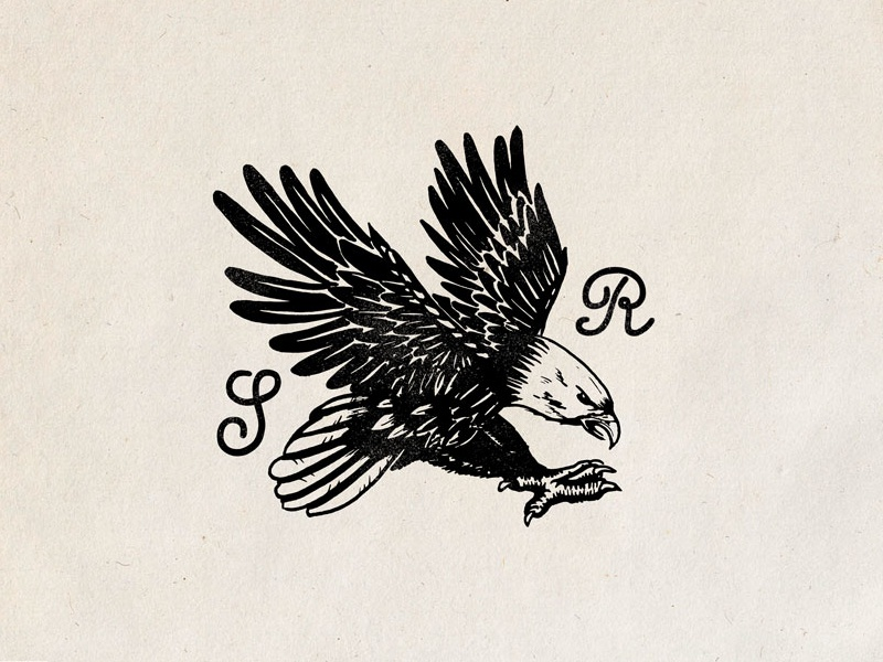 Eagle SR eagle old school vintage composition branding